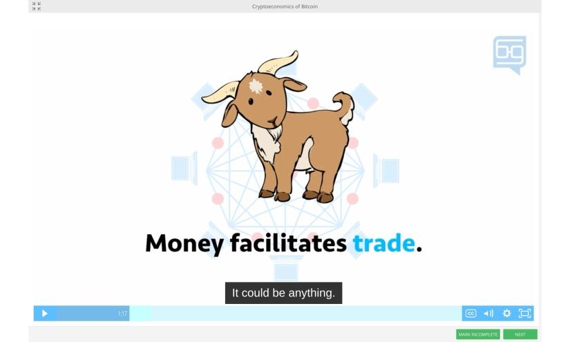 Goat Cryptoeconomics Bitcoin